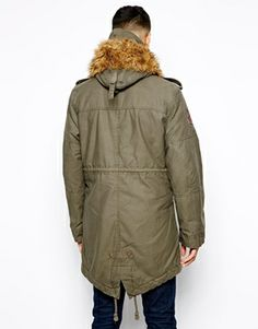 Alpha Industries washed fishtail parka