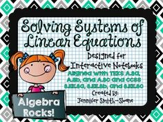 8th Grade & Algebra Interactive Notebook Bundle- Linear Systems- CCSS and TEKS from 4mulaFun on TeachersNotebook.com -  (60 pages)  - 8th Grade & Algebra Interactive Notebook Bundle- Solving Systems of Linear Systems- CCSS and TEKS