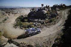 Ott Tanak of Estonia and Martin Jarveoja of Estonia compete in their M-Sport WRT Ford Fiesta WRC during Day Three of the WRC Argentina on April 30, 2017 in Villa Carlos Paz, Argentina.