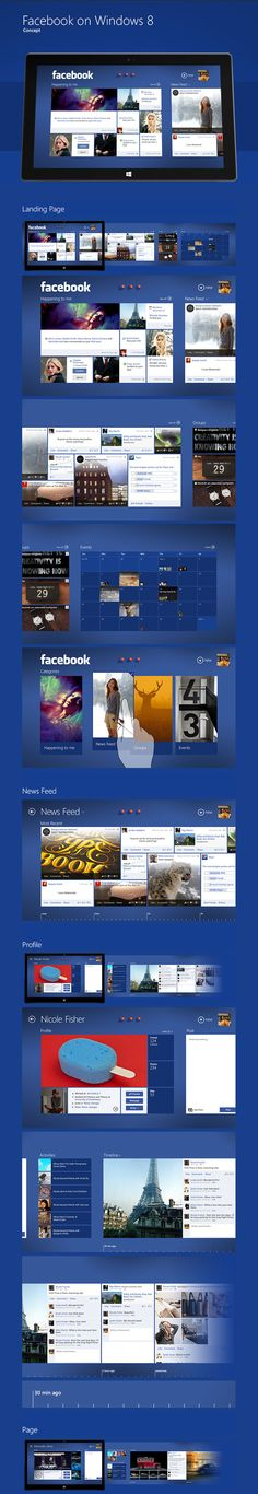 An interesting take on a Facebook Windows 8 app