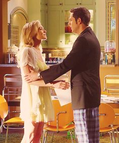 "Chuck Bartowski and Sarah Walker. (Zachary Levi and Yvonne Strahovski)  ""Chuck. You're a gift. You're a gift I never dreamed I could want or need and every day I will show you that you're a gift that I deserve. You make me the best person I could ever hope to be and I want to spend and learn and love the rest of my life with you."""