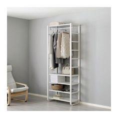 ELVARLI 1 secção IKEA Prateleiras e varão reguláveis; adapte de acordo com as suas necessidades.