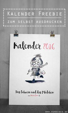 Kalender 2016 zum selbst ausdrucken   Freebie und Gewinnspiel
