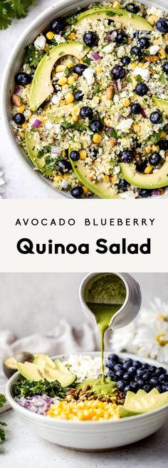 Avocado Blueberry Quinoa Salad