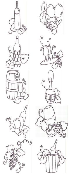 Fancy Grapes Machine Embroidery Designs by DigitizingDiva on Etsy, $10.00