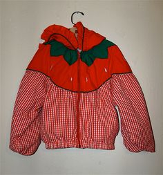1990s Strawberry Gingham  Little Girl Jacket