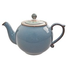 Denby Pottery, Blue Palette, Teapots And Cups, Chocolate Pots, Rustic Feel, Tea Time, Tea Party, Stoneware, Tea Cups