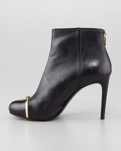 Tory Burch Pacey Cap-Toe Ankle Bootie