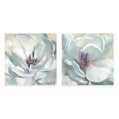 White Flower Canvas Wall Art