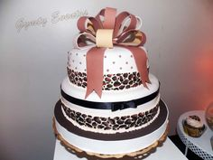Leopard birthday party cake! See more party ideas at CatchMyParty.com!
