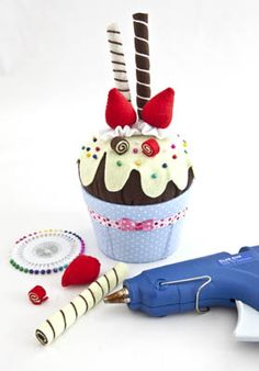 Agulheiro de cupcake - Portal de Artesanato - O melhor site de artesanato com passo a passo gratuito