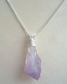 Raw Amethyst Necklace Crystal Pendant by Crystals1LittleShop #ooak  gifts
