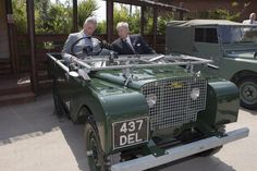 Prince Charles helped Land Rover workers celebrate the firm's 60th anniversary in 2008.
