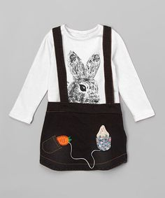 Loving this White Bunny Tee & Blue Jumper - Infant & Toddler on #zulily! #zulilyfinds