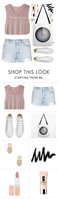 """""""OOTD - Dusty Pink"""" by by-jwp ❤ liked on Polyvore featuring Express, Topshop, Converse, Sole Society, Rimmel, Clinique and Michael Kors"""
