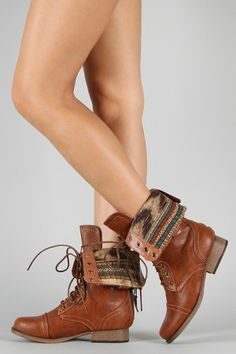 Wild Diva Lounge Jetta-25F Military Lace Up Boot $38.90