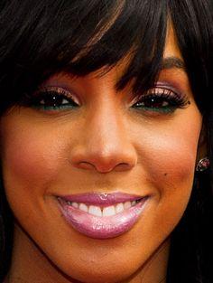 Kelly Rowland's Watermelon-like Eye Makeup