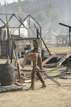 "Anson Mount and Dominique McElligott in Hell on Wheels from ""Blood Moon Rising"""