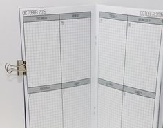 DATED July - December 2015 Weekly Planner -- Grid {Standard Size} Printable Travelers Notebook Insert Booklet // Monday Start