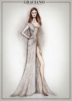 GRACIANO fashion illustration: Atelier Versace S/S 2014 - HAUTE COUTURE