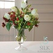 Tulip Holiday Bouquet in Glass Vase
