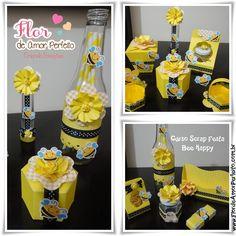 Flor de Amor Perfeito: Curso Scrap Festa - Bee Happy