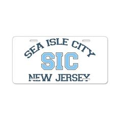 Sea Isle City NJ - Varsity Design Aluminum License on CafePress.com