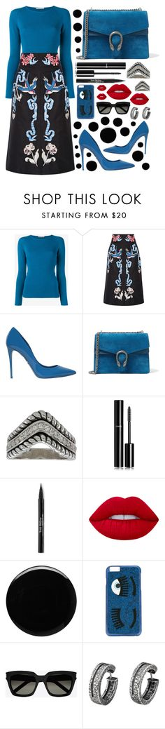 """🔝temperley london skirt🔝"" by sanela-enter ❤ liked on Polyvore featuring Emilia Wickstead, Temperley London, Dolce&Gabbana, Gucci, Chanel, Trish McEvoy, Lime Crime, Deborah Lippmann, Chiara Ferragni and Yves Saint Laurent"