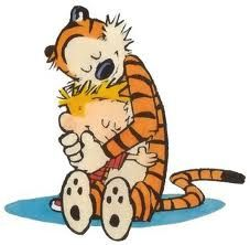 calvin and hobbes - awwww