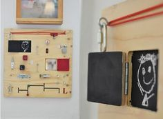 Wondering what to do with that old light switch?  Have a few knobs that you can't bear to part with, but don't honestly have any use for? Want to encourage imaginative play?  We bet your child would get years worth of use out of a busy board.  From toddler toy to time machine to airplane control panel, this do-it-yourself project is well worth the effort.