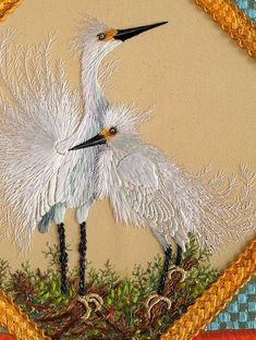 Marvelous Crewel Embroidery Long Short Soft Shading In Colors Ideas. Enchanting Crewel Embroidery Long Short Soft Shading In Colors Ideas. Embroidered Bird, Embroidery Hoop Art, Crewel Embroidery, Ribbon Embroidery, Cross Stitch Embroidery, Embroidery Patterns, Needlepoint Stitches, Needlework, Birds