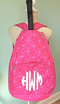 Tennis Bags Personalized by SouthernScriptSC on Etsy