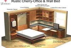 """Figure out additional details on """"murphy bed ideas ikea guest rooms"""". Look at our site. Murphy-bett Ikea, Bunk Beds Built In, Guest Room Office, Guest Rooms, Modern Murphy Beds, Murphy Bed Plans, Bed Lights, Bed Wall, Outdoor Kitchen Design"""