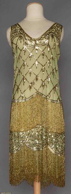 Vestido de noche de la gasa c. 1925.