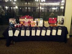 I like how the bags are set up Raffle Prizes, Raffle Ideas, Stag And Doe, Jack And Jill, Charity Event, Holidays And Events, Party Gifts, Fundraising, Party Themes
