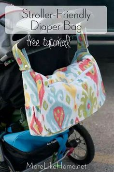 Diaper bag free sewing pattern and tutorial