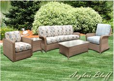 Anglers Bluff Outdoor Patio Wicker Furniture | 9853 By Beachcraft