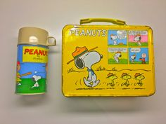Peanut's Thermos Lunchbox and Thermos Container by vintagetoolbox