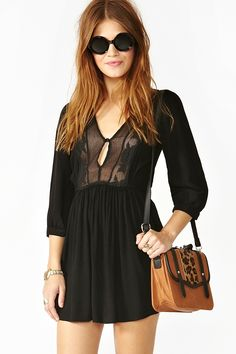 Zeppelin Dress in Black