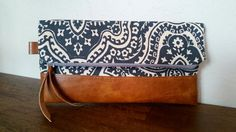 Dusty Blue and Ivory Clutch | MADE