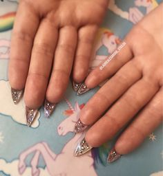 Why only have glitter on the top when you can have it underneath too? ✨✨✨✨   #acrylicnails #gelnails #glitternails #glitter #nails #nailextensions #nailart #sparklynails #unicornnails #magicalnails #girlynails