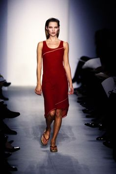 Calvin Klein Collection Spring 1997 Ready-to-Wear Fashion Show - Kate Moss