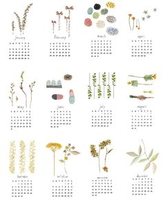 2015 CALENDAR. Nature watercolor calendar