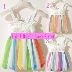 1 3Y Wholesale color bars kids Chiffon bag Sling shall harness baby lace tutu Dress-in Special Store from Apparel & Accessories on Aliexpress.com