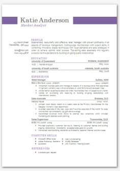 Modern Microsoft Word Resume Template Katie By Inkpower On Etsy