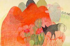 Maman loup – Géraldine Elschner et Élodie Nouhen   Librairie Tire-Lire Album Jeunesse, Color Pencil Art, Book Illustration, Illustrations, Colored Pencils, Draw, Painting, Editorial, Heart