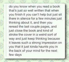 When books haunt you.