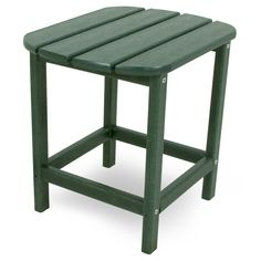 Polywood South Beach Patio Side Table Green