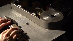 """2x72"""" Belt Knife Grinder - Black Fox Knife Works Knife Grinder, Belt Grinder, Belt Knife, Knife Making Tools, Cold Rolled, Work Surface, Glass Shelves, It Works, Fox"""