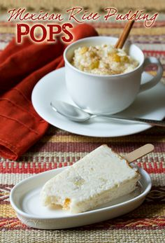 Mexican Rice Pudding Pops | ASpicyPerspective.com #mexican #recipe #pudding #popsicles